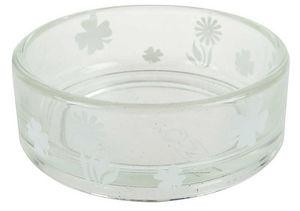 ZOLUX - ecuelle transparente blanche en verre 12x12x4.5cm - Napf