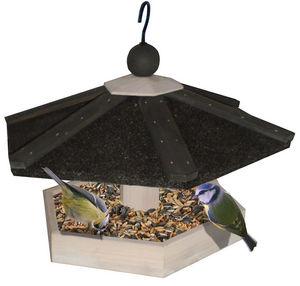 ZOLUX - mangeoire à suspendre en bois hexa 27x27x27cm - Vogelfutterkrippe