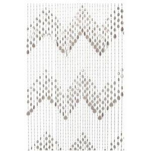 Present Time - rideau de porte plastique gris - Türvorhang