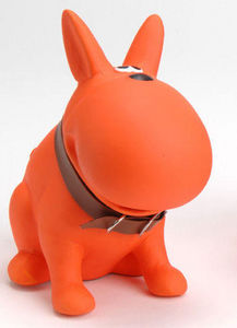 KORB - tirelire chien swag orange en dolomite 7x14x13cm - Spardose