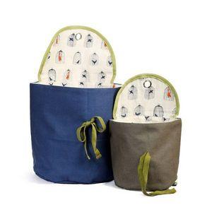 RÊVES DE GRENOUILLE - bleu/taupe - Hängeaufbewahrung Für Kinder