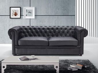 BELIANI - set chesterfield - Chesterfield Sofa