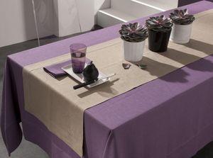 BLANC CERISE - delices de lin  - Tischläufer