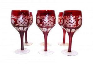 Demeure et Jardin - set de 6 verres rouges - Stielglas