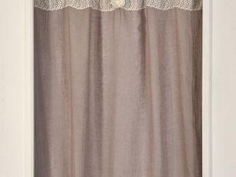 Coquecigrues - paire de rideaux vertu glycine - Fertigvorhänge