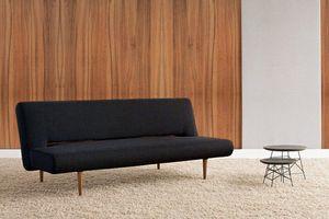 INNOVATION - canape design unfurl noir convertible lit 200*120 - Klappsofa