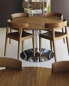 Calligaris - table repas ronde planetde calligaris 120x120 noye - Runder Esstisch