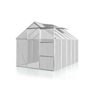 WHITE LABEL - serre polycarbonate 250 x 270 cm 6,7 m2 - Gewächshaus