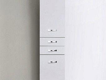 UsiRama.com - colonne de salle de bain design 1,6m blanc - Badezimmerschrank