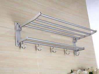UsiRama.com - porte serviette mural pliable aluminium - Handtuchhalter