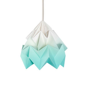 SNOWPUPPE - moth - suspension papier tie & dye blanc/menthe ø2 - Deckenlampe Hängelampe
