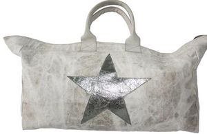 BYROOM - leather star, silver - Reisetasche