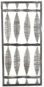 Aubry-Gaspard - décoration murale en métal laqué gris - Wanddekoration