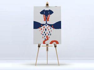 la Magie dans l'Image - toile l'éléphant - Digital Foliendruck