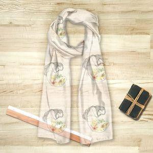 la Magie dans l'Image - foulard douceur de printemps - Vierecktuch