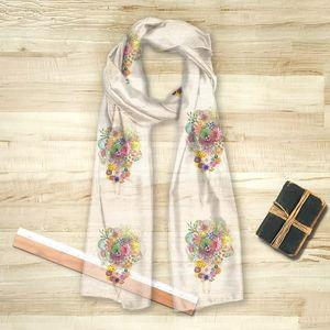 la Magie dans l'Image - foulard un bouquet - Vierecktuch