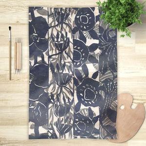 la Magie dans l'Image - foulard végétal gris foncé - Vierecktuch