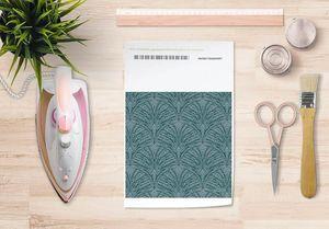 la Magie dans l'Image - papier transfert plumes de paon grises - Verlegung