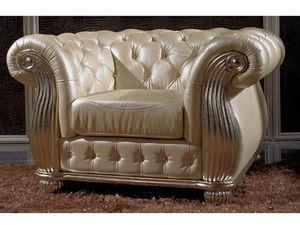 WHITE LABEL - fauteuil cuir monark - Sessel