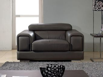 WHITE LABEL - fauteuil cuir lima - Sessel