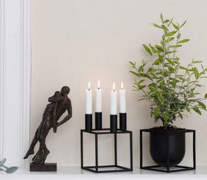by Lassen - kubus 4, black - Kerzenständer