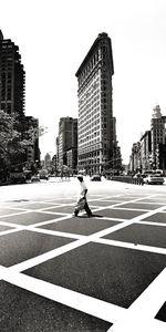 Nouvelles Images - affiche flatiron building new york - Plakat