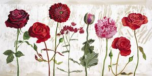Nouvelles Images - affiche le jardin aux fleurs rouges - Plakat