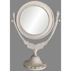CHEMIN DE CAMPAGNE - miroir psyché à poser sur pied en fonte d'alumini - Tischspiegel
