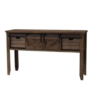 CHEMIN DE CAMPAGNE - console table drapier à tiroirs et porte coulissan - Wäschetisch