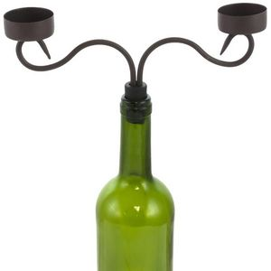CHEMIN DE CAMPAGNE - bougeoir chandelier à bouteilles 2 bougies 22.50x2 - Leuchter