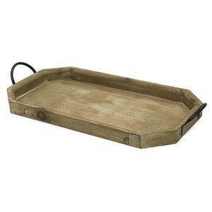 CHEMIN DE CAMPAGNE - serviteur plateau en bois marron 59 cm - Tablett