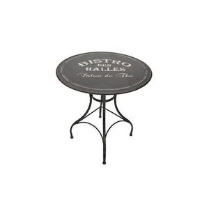 Mathi Design - table ronde bistro noire - Bistrotisch