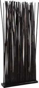 Aubry-Gaspard - paravent 34 tiges de bambou patiné noir - Paravent