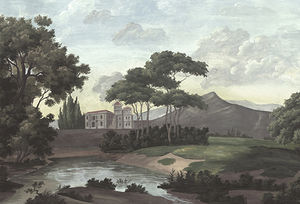 Ananbô - castel bellagio couleur vieillie et patinée - Panoramatapete