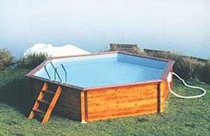 Decorpiscine - hexagonale - Pool Mit Holzumrandung