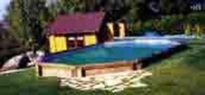 Piscines Arizona Pool -   - Pool Mit Holzumrandung