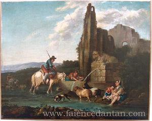 La Faience D'antan -  - Ölgemelde Auf Leinwand Und Holztafel