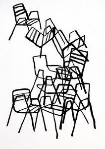 Estudio Mariscal - sillas 2 - Tuschezeichnung