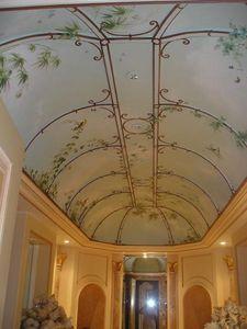 pique decor - plafond salle de bain, ciel et tonnelle - Bemalte Decke