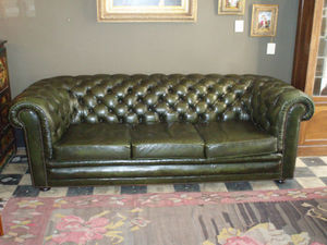 ANTIGÜEDADES BRITANIA - canapé 3 places chesterfield - Chesterfield Sofa