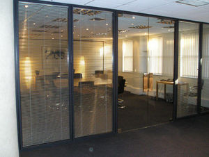 Avon Partitioning Services - full height double glazed with glass doors - Büro Zwischenwand