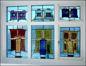 Matthew Lloyd Winder Stained Glass Studios - african staircase - Buntglasfenster