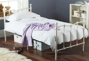 featureDECO - amelia single 3ft white metal bed by hyder - Kinderbett