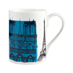 Poole Pottery - cities in sketch mug paris - Teetasse