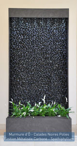 ETIK&O - murmure d'ô calades noires polies - Wasserwand