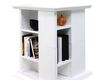 Miliboo - u2ydd bout de canape blanche - Bibliothek