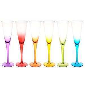 Maisons du monde - coffret 6 flûtes colorama - Champagnerkelch