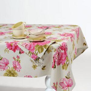 Maisons du monde - nappe floralie 250x150 - Rechteckige Tischdecke