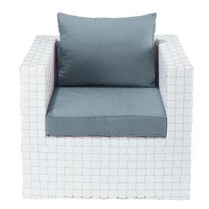Maisons du monde - fauteuil blanc square garden - Gartensessel