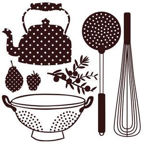 ART STICKER - sticker vaisselle et accessoires de cuisine - Gummiertes Papier